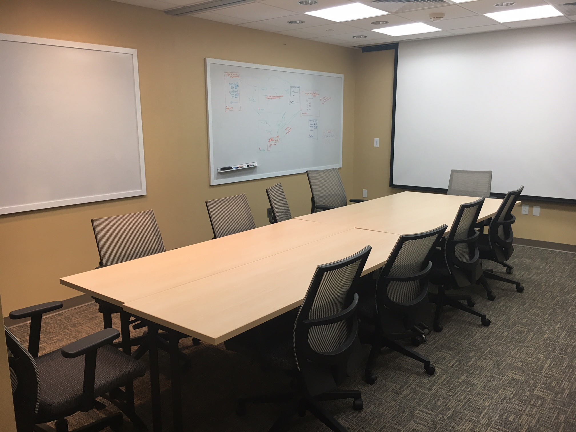 Room Building Shared Space Reservations Services - 6 person conference table
