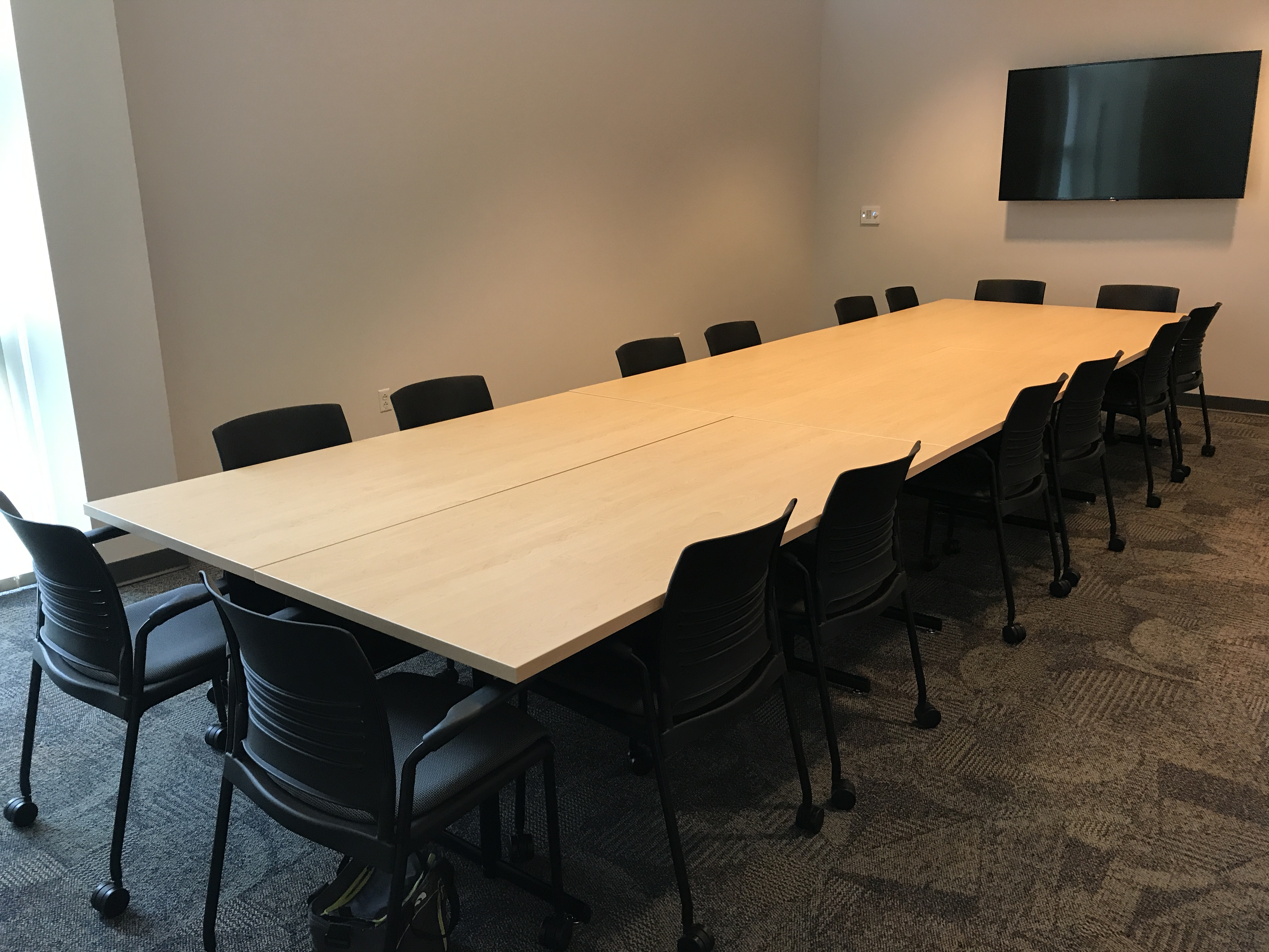 Room And EPNEC Shared Space Reservations Services - 16 person conference table